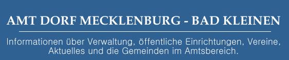 Amt Dorf Mecklenburg-Bad Kleinen